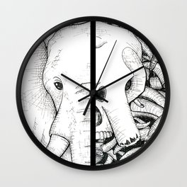 Elephant Ivory Wall Clock