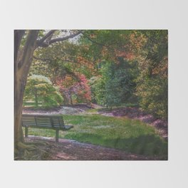 The Park Bench Throw Blanket