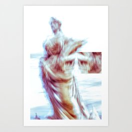 ICM statue 010-2020 Barcelona, Spain Art Print
