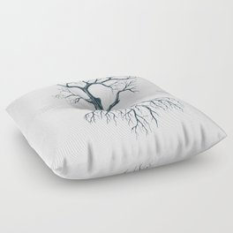 Tree without leaves Floor Pillow