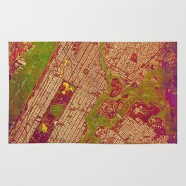 Central Park New York, old map, vintage old map, mapa antiguo, american map Rug