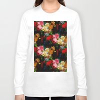 baroque Long Sleeve T-shirts featuring baroque flora by arielle morris
