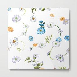 Spring Flowers, Nature 44 Metal Print