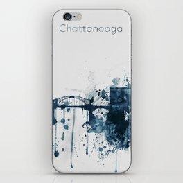 Blue Chattanooga skyline design iPhone Skin