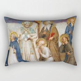 "Fra Angelico (Guido di Pietro) ""Crucifixion with Saints"" (San Marco) - detail Rectangular Pillow"