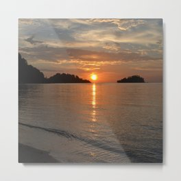 sunset by the Caribbean Beach 003 Metal Print