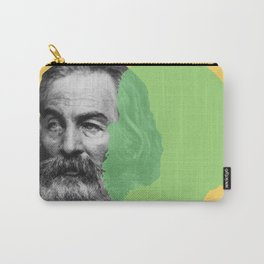 Walt Whitman portrait yellow green Carry-All Pouch