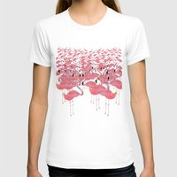 flamingos T-shirts featuring Flamingos by Lydia Coventry