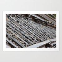 Colfax Rails Art Print
