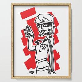 Graffiti Girl (alternative) Serving Tray