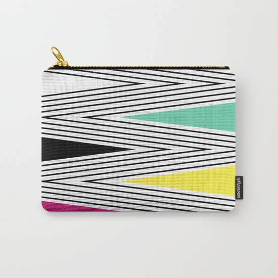 Abstract pattern of zigzag and triangles 3 . Carry-All Pouch