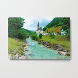 Church in Ramsau (Bavaria) Metal Print