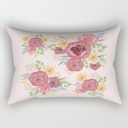 Big Burgundy Flowers Rectangular Pillow