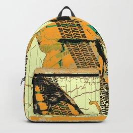 ROADKILL MONARCH BUTTERFLY  & TIRE TRACKS ART Backpack
