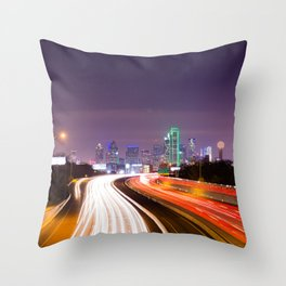 The Road to Dallas Throw Pillow