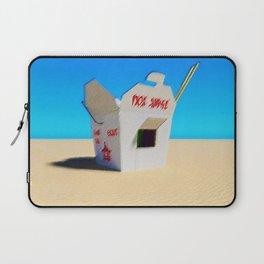 Chinese Take-out Oyster Pail Pop Art Desert Landscape by Jeanpaul Ferro Laptop Sleeve