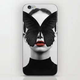 BLACK BUTTERFLY iPhone Skin