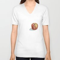 apple V-neck T-shirts featuring Apple  by veronica ∨∧
