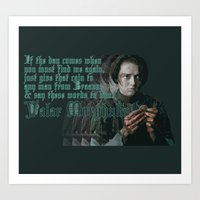 valar morghulis Art Prints featuring Arya Stark, Valar Morghulis by Your Friend Elle