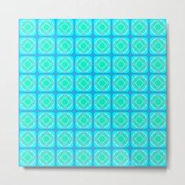 Tile Cubes Metal Print