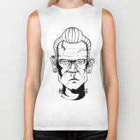 frankenstein Biker Tanks featuring Frankenstein by Diseños Fofo