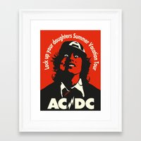acdc Framed Art Prints featuring Ac/Dc angus young by aceofspades81