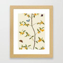 Jenny Chinoiserie Kumquat Framed Art Print
