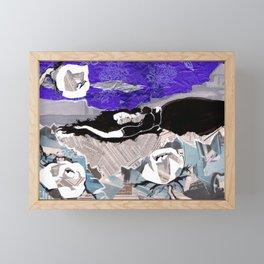 Sleeping under night sky Framed Mini Art Print