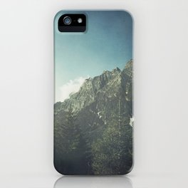 Alpine Valley and Mountains in Mist iPhone Case