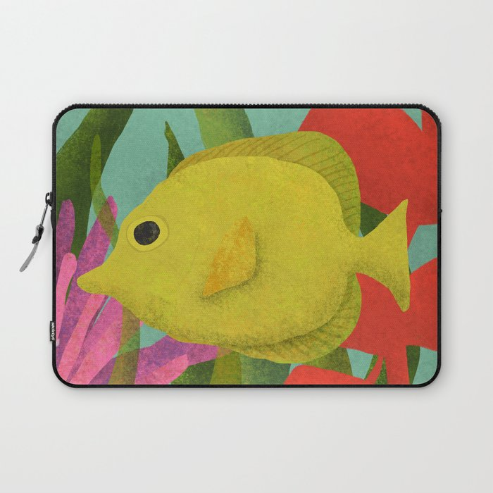 Yellow Fish In The Ocean Laptop Sleeve