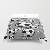 soccer Duvet Covers featuring Soccer by joanfriends