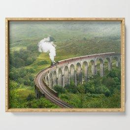 Hogwart Express steam engine in the scottish highlands Serving Tray