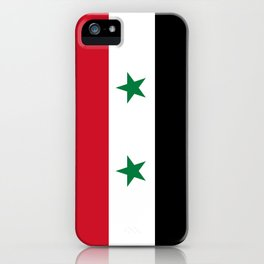 Syrian flag - may PEACE prevail iPhone Case
