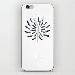 feather mandala... jay feathers, drift wood iPhone Skin