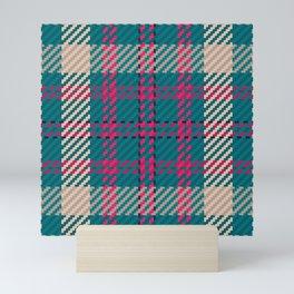 Scottish Plaid Checkered Pattern Mini Art Print
