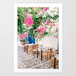Milos 0017: Bougainville, Plaka, Milos, Greece Art Print