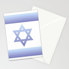 flag of Israel - with color gradient Stationery Cards