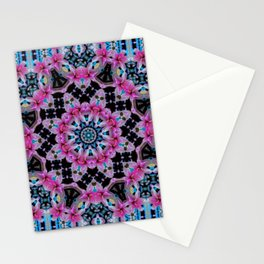KALEIDOSCOPE ABSTRACT LILY SHINING COLOR Stationery Cards