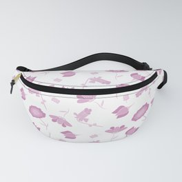 Pink and White Floral Pattern Fanny Pack