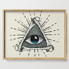All Seeing Eye Serving Tray