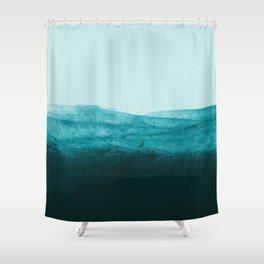 Aqua Watercolor Tide Shower Curtain