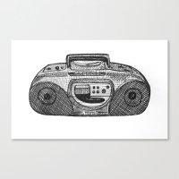 radio Canvas Prints featuring Radio by Rachel Zaagman