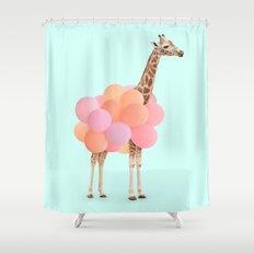 GIRAFFE PARTY Shower Curtain