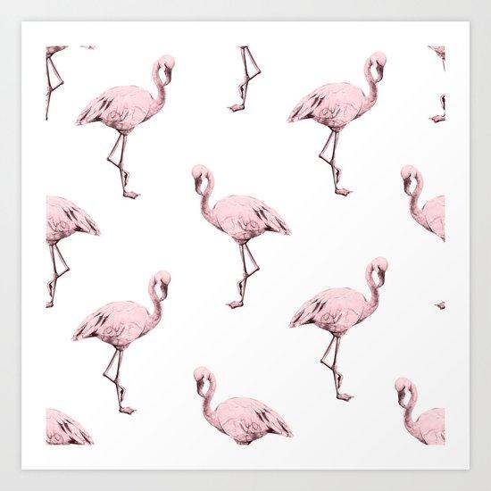 Simply Pink Flamingo in Pink Flamingo Art Print