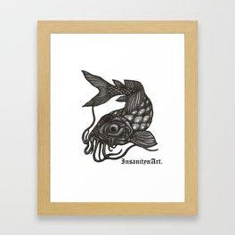 InsanitynArt's, Pointilism, How Koi?  Framed Art Print