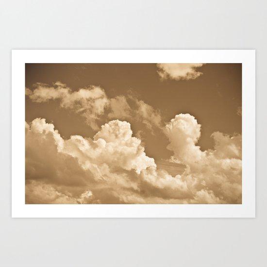 Sepia sky Art Print