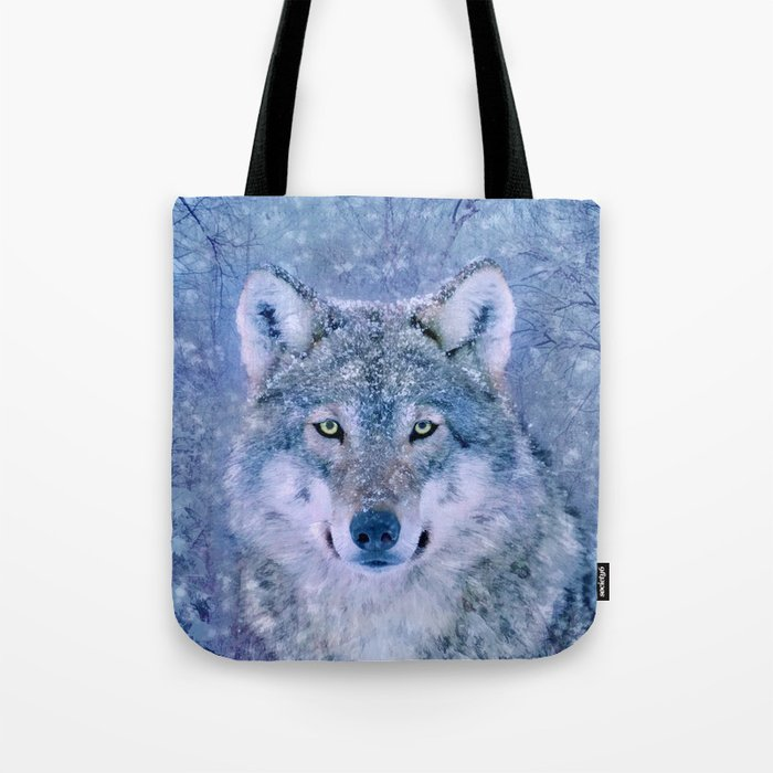 Winter Wolf Tote Bag