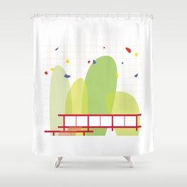 architecture - mies van der rohe Shower Curtain