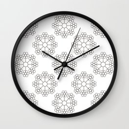 AT FLOWER Wall Clock