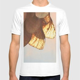 Cluster of lightened leaves T-shirt